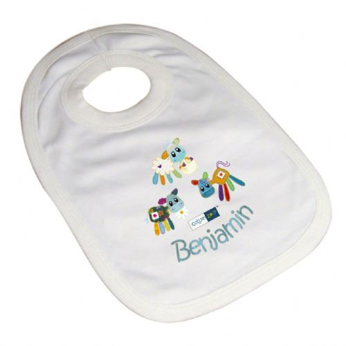 Personalised Cotton Zoo Boys Farmyard Bib